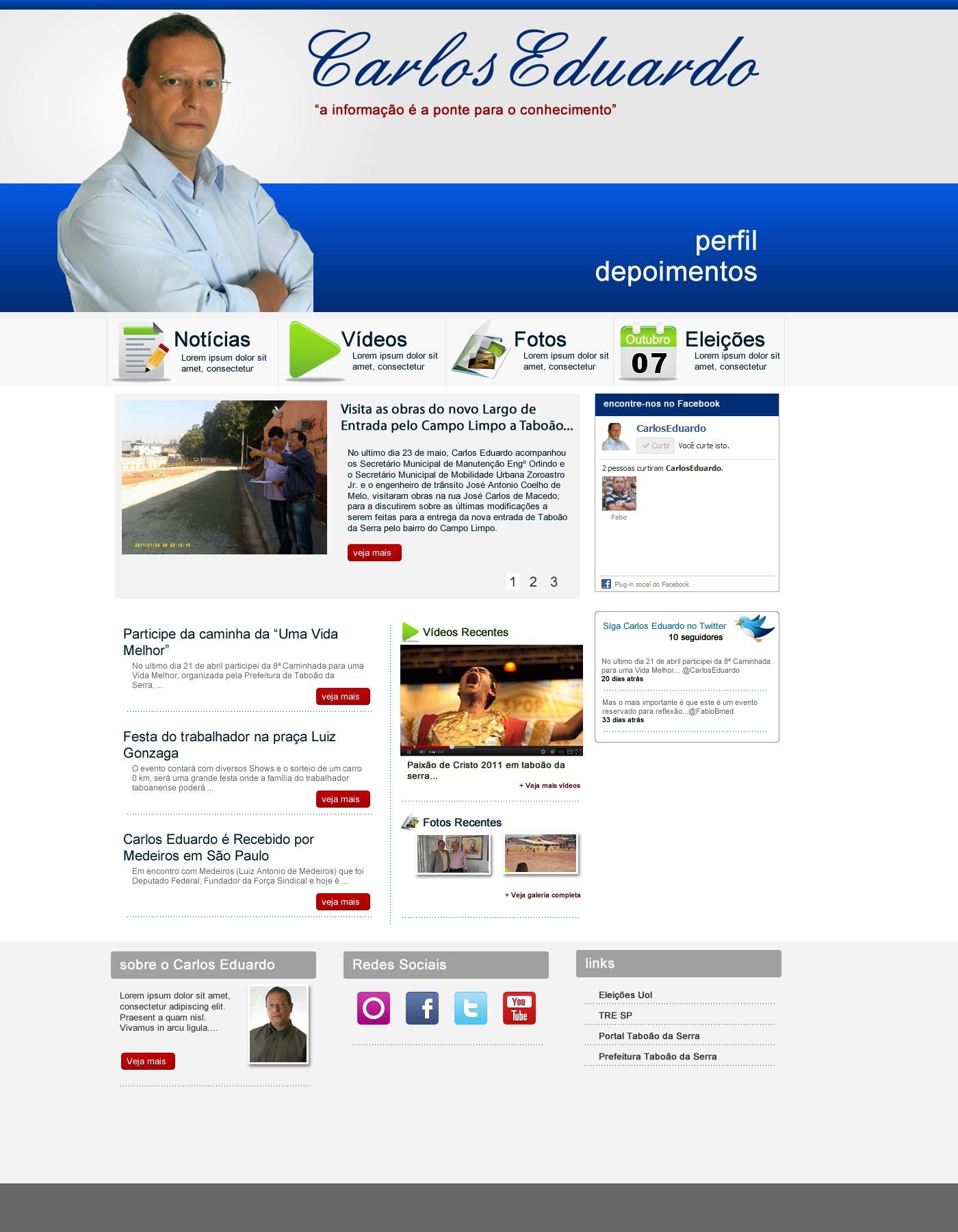 Desig Blog do Dr Carlos Eduardo
