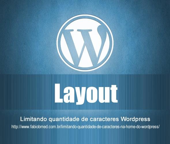 wordpress limitando caracteres