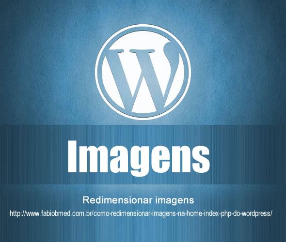 wordpress redimensionar imagens