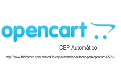 opencart CEP automatico