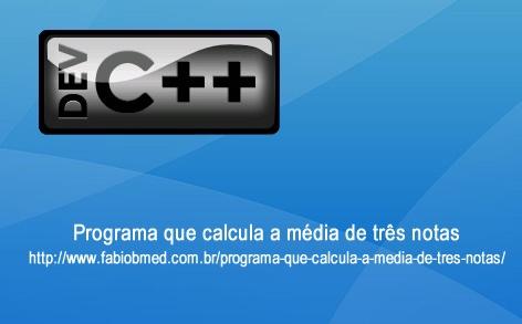 Programa que calcula a média de três notas