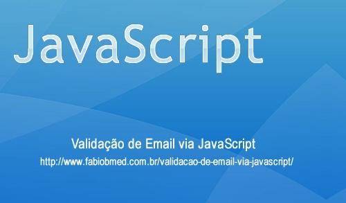 Validação de Email via JavaScript