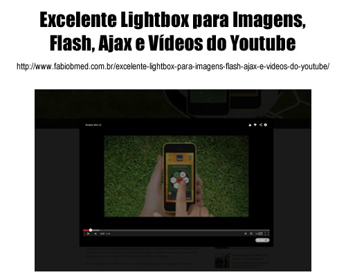 Excelente Lightbox para Imagens, Flash, Ajax e Videos do Youtube