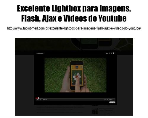 Excelente Lightbox para Imagens, Flash, Ajax e Videos do Youtube