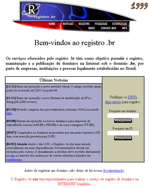 registro br 1999