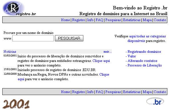 registro br 2001