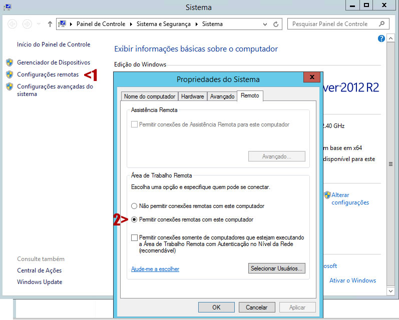 Configurações Remotas do Windows 1