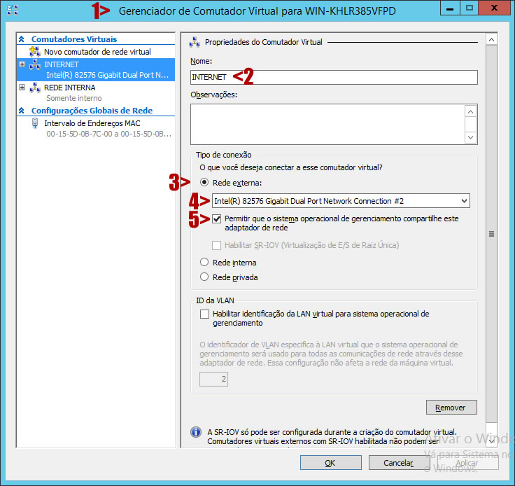 Gerenciador de Comutador Virtual Hyper-V 2